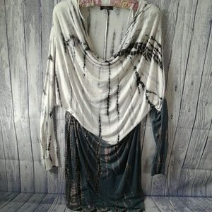 T Party Slouchy Top Yoga Dress, Size Large